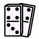 blocking, dominoes, funny, game, player icon