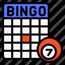activity, bingo, family, fun, game, jackpots icon