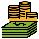 cash, finance, gambling, investment, loan, money icon