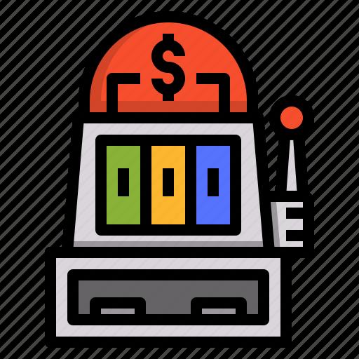 casino, gambling, game, machine, slot icon