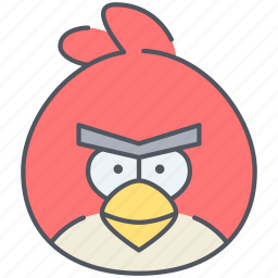 angry, angry bird, bird, entertainment, game, gaming icon