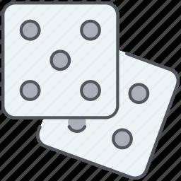 dices, entertainment, gambling, game, gaming, throw, vegas icon