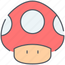 entertainment, fungus, game, gaming, mario, mushroom, retro icon