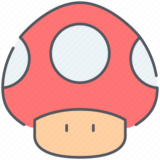 entertainment, fungus, game, gaming, mario, mushroom, retro icon