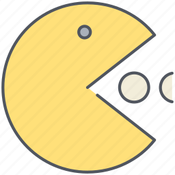 eating, entertainment, game, gaming, pacman, retro icon