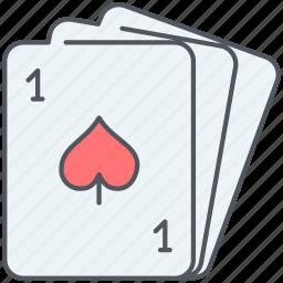 cards, entertainment, gambling, game, gaming, playing, poker icon