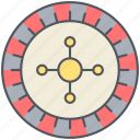 casino, entertainment, gamble, game, gaming, las vegas, roulette icon