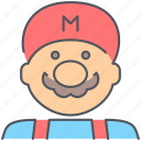 entertainment, game, gaming, mario, retro, super, superhero icon