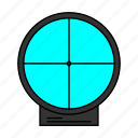 ammo, gaming, pubg, shooter, shooting, sight, free fire icon