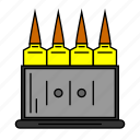 ammo, pubg, shooter, shooting, socket, supply, free fire icon