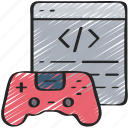 coding, games, gaming, playing, programming icon