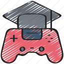 education, game, games, gaming, learning, playing icon