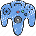 console, controller, four, games, gaming, n, playing, sixty icon