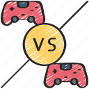 controllers, player, games, vs, gaming, playing