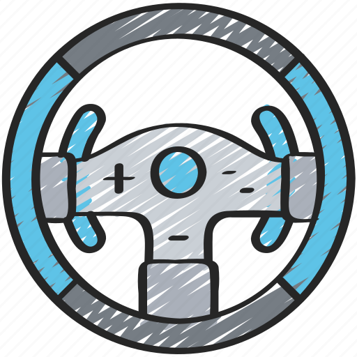 controller, games, gaming, playing, racing, steering, wheel icon
