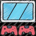 game, gamer, games, gaming, player, playing, two icon