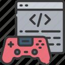 coding, games, gaming, playing, programming icon