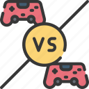 controllers, games, gaming, player, playing, vs icon