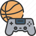 basketball, games, gaming, playing, sports icon