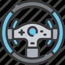 controller, games, gaming, playing, racing, steering, wheel icon