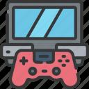 computer, games, gaming, laptop, playing icon