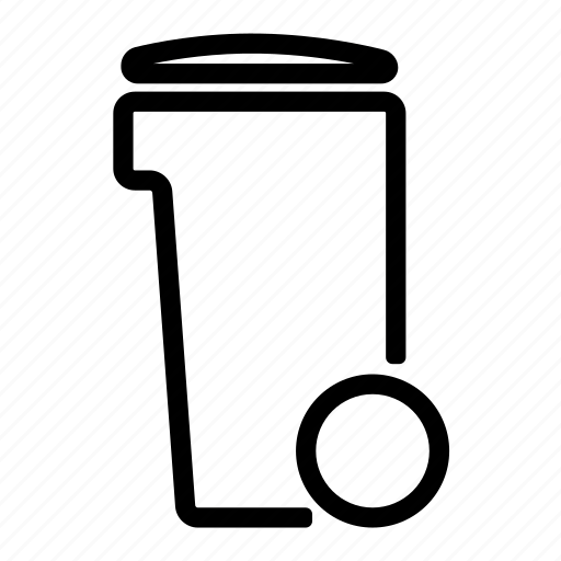 can, garbage, household, trash, trash can icon