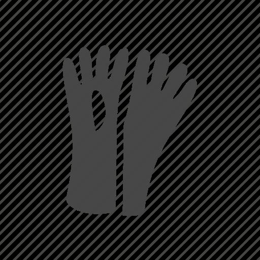 garbage, gloves, hand icon