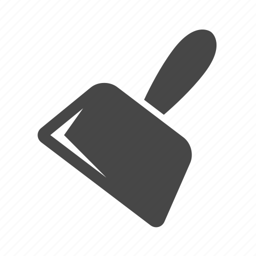 broom pan, dustpan, pust pan icon