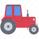 agriculture, car, farm, garden, nature, tractor icon