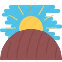 agriculture, earth, farm, field, garden, nature, sun icon