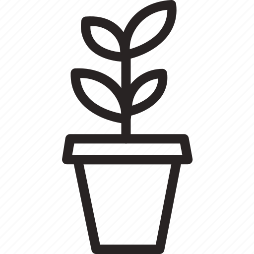 flower, gardening, grow, growing, nature, plant, vase icon