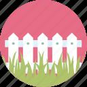 garden, fence, gardening, grass, green, lawn, plant