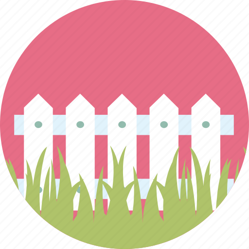 fence, garden, gardening, grass, green, lawn, plant icon