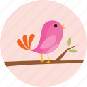 bird, ecology, flower, flowers, garden, tree icon