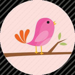 bird, ecology, flower, flowers, garden, tree icon