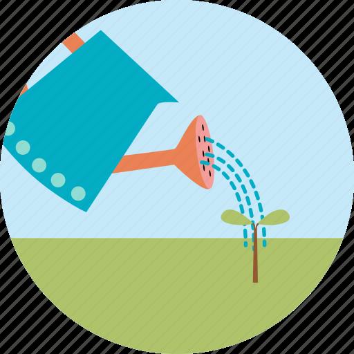 ecology, garden, gardening, green, plant, sprinklers, tree icon