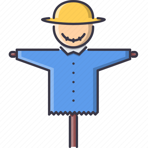 agriculture, farm, garden, hat, nature, scarecrow icon
