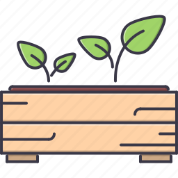 agriculture, box, farm, garden, nature, seedling, sprout icon