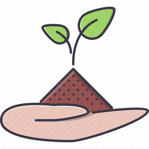 Agriculture, earth, farm, garden, hand, nature, sprout icon - Download on Iconfinder