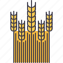 agriculture, farm, field, garden, nature, wheat icon
