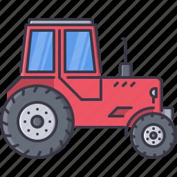 agriculture, car, farm, garden, nature, tractor icon