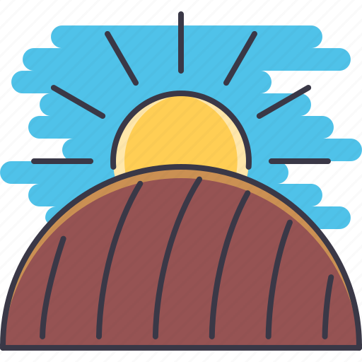Agriculture, earth, farm, field, garden, nature, sun icon - Download on Iconfinder