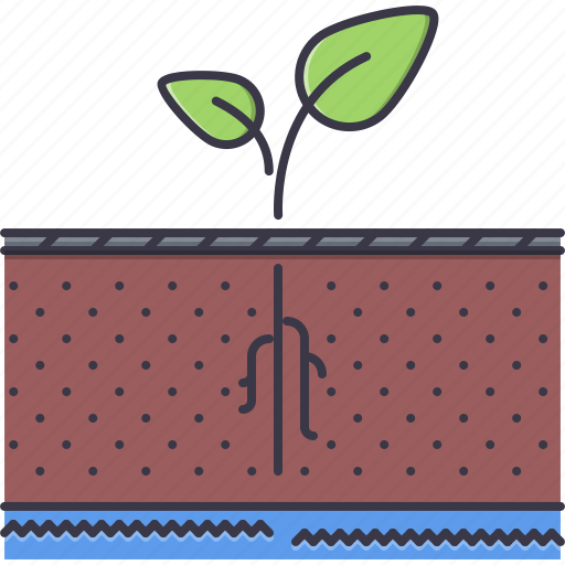 agriculture, earth, farm, garden, nature, root, sprout icon