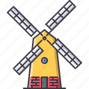 agriculture, farm, garden, mill, nature icon