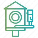 birdhouse, birds, garden, pet icon