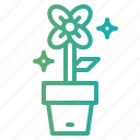 flower, gardening, pot icon