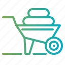 cart, gardening, trolley, wheelbarrow icon