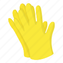 cartoon, clothing, concept, construction, design, garden, glove icon