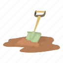 agriculture, build, care, cartoon, construction, design, shovel icon