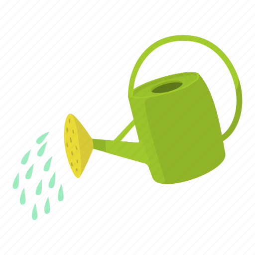 agriculture, can, cartoon, design, grow, soil, watering icon